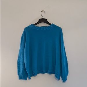 Who what wear cropped sweater Blue Sz 4x